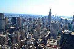 Aerial View of South Manhattan New York, NY Stock Photography