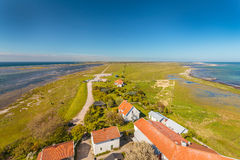 Aerial view of South Oland in Sweden Royalty Free Stock Images