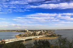 Aerial view of South Perth suburb stock photos