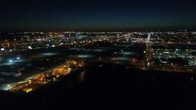 Aerial View South Philadelphia Stadium Area.  stock footage