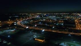 Aerial View South Philadelphia Stadium Area.  stock video