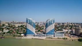 Aerial view of South Russia, Krasnodar Krai, Krasnodar city in 2018 stock photos