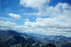 Aerial view of Southern Alps. Royalty Free Stock Images