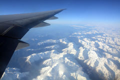 Aerial View of Southern Alps of New Zealand in Spring. stock images