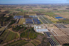 Aerial view of southern Ontario Royalty Free Stock Photo