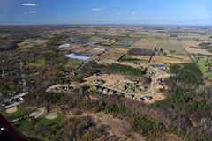 Aerial view of southern Ontario Royalty Free Stock Photography
