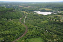 Aerial view of southern Ontario Stock Images
