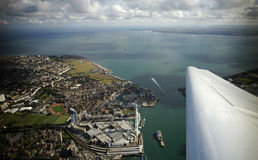 Aerial view of Southsea. And Spithead from a light aircraft Royalty Free Stock Photos