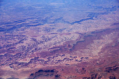 Aerial View of Southwest USA Country Side Landscape Stock Photography