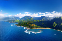Aerial view of spectacular Na Pali coast, Kauai Royalty Free Stock Photo