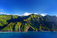 Aerial view of spectacular Na Pali coast, Kauai Royalty Free Stock Image