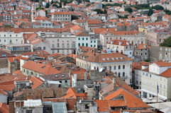 Aerial view of Split city, Croatia Stock Image