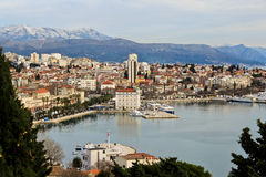 Aerial View of Split. Croatia from Marjan Forest Park Stock Images