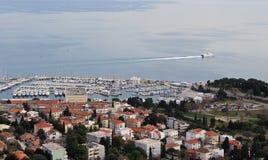 Aerial View of Split. Aerial sea view with harbor in Split, Croatia Royalty Free Stock Photos