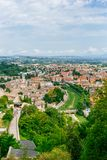 Aerial view of Spoleto, Italy royalty free stock photography