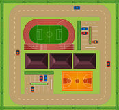 Aerial view of sporting facility Royalty Free Stock Image