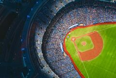 Aerial View of Sports Stadium during Daytime Royalty Free Stock Photography