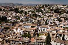 Aerial view sprawling city of Granada, Spaini Stock Image
