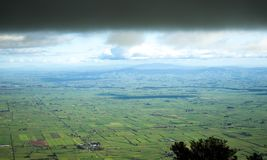 Aerial view from a spur of Mount Te Aroha. Aerial view to green Te Aroha district, Waikato region, New Zealand Stock Photography