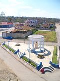 Aerial view of the square Ernest Hemingway in Cojimar. Aerial view of the square where the monument to the writer Ernest Hemingway is located in Cojimar 2012 stock photos