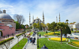 Aerial view square near Blue Mosque in Istanbul Stock Photos