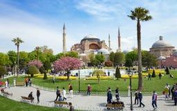 Aerial view square near Hagia Sophia in Istanbul Stock Photos