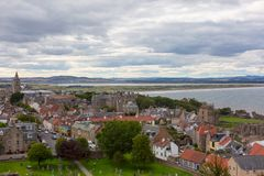 Aerial View of St Andrews town Royalty Free Stock Images
