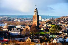 Aerial view of St. Anne`s Church in Shandon, Cork, Ireland. stock images