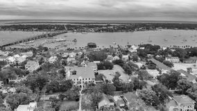Aerial view of St Augustine, Florida.  stock photo
