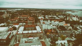 Aerial view of St Augustine, Florida.  royalty free stock images