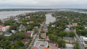 Aerial view of St Augustine, Florida.  stock image