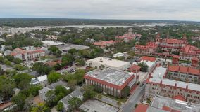 Aerial view of St Augustine, Florida.  royalty free stock image