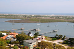 Aerial View of St Augustine, Florida Royalty Free Stock Photo