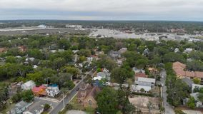 Aerial view of St Augustine, Florida.  stock photos