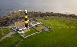 St John`s Point Lighthouse. county Down. Northern Ireland. stock photo