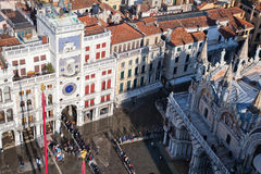 Aerial view of the St. Mark's Square in Venice Stock Images