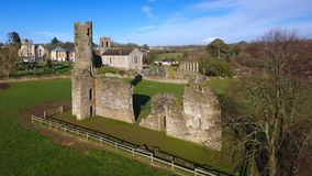 Aerial view. St Mary`s Abbey and Cathedral. Ferns. co Wexford. Ireland Royalty Free Stock Image