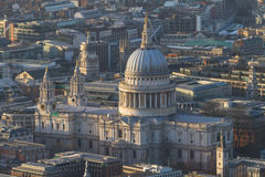 Aerial view of St. Paul's cathedral Royalty Free Stock Photos