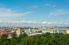 Aerial view of St.Petersburg Stock Image