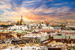 Aerial view of St Petersburg, Russia Royalty Free Stock Image
