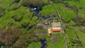 Aerial view of the stable stock video