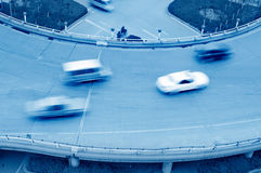 Aerial view of the Stack Interchange. In Shanghai Royalty Free Stock Images