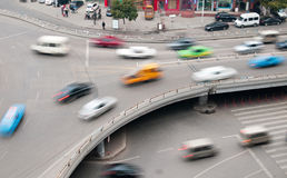 Aerial view of the Stack Interchange. In Shanghai stock photography