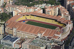 Aerial view of Stade Louis II in Monaco Royalty Free Stock Photography