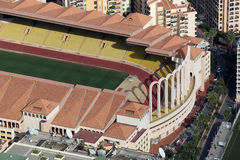 Aerial view of Stade Louis II in Monaco Stock Images