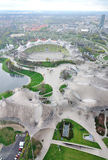 Aerial view of Stadium of the Olympic Park in Munich. Germany Stock Photography