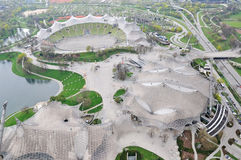 Aerial view of Stadium of the Olympic Park in Munich. Germany Stock Image