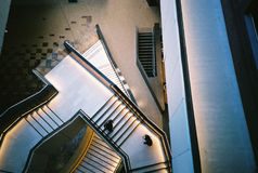 Aerial view of stairway  Royalty Free Stock Images