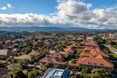 Aerial view of Stanford University Campus - Palo Alto, California, USA. PALO ALTO, USA - January 11, 2017: Aerial view of Stanford University Campus - Palo Alto Royalty Free Stock Photos