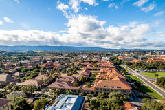 Aerial view of Stanford University Campus - Palo Alto, California, USA. PALO ALTO, USA - January 11, 2017: Aerial view of Stanford University Campus - Palo Alto Royalty Free Stock Image